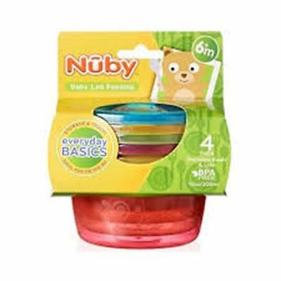 Nuby Food Pots with Lids 300ml 4 Pack