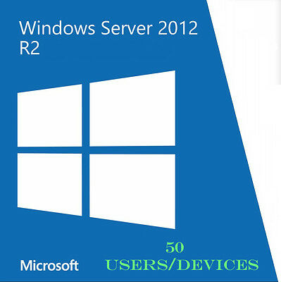 Windows Server 2012 R2 Remote Desktop Services Cal 50 Users/Devices RDSCAL