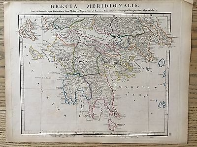 1828 Ancient Southern Greece By Arrowsmith Hand Coloured Antique Map 189 Yrs Old