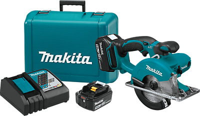 "Makita XSC01T 18V LXT 5-3/8"" Metal Cutting Saw Kit (5.0 Ah)"