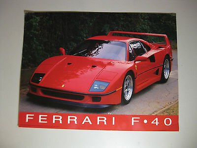 Ferrari F40 Poster, Italian Sports Car, 40th Anniversary, Speed, Power, Racing