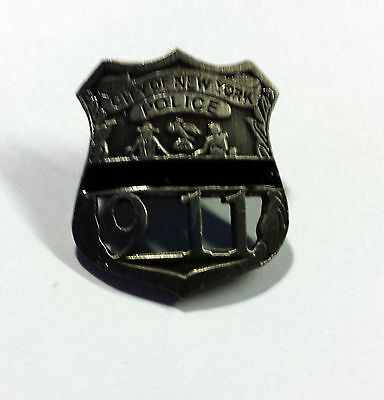 9-11 Commemorative NYPD Pin with Black Mourning Band  **** SPECIAL SALE*****