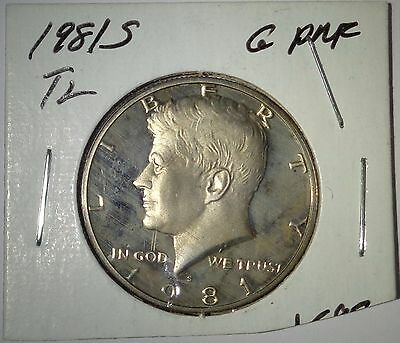 1981-S 50C Type 2 (Proof) Kennedy Half Dollar - Clear S