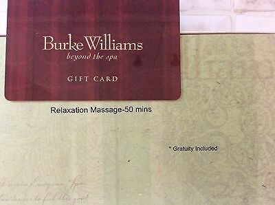 Burke Williams Spa 50 Minute Relaxation Massage Gift Card valued at $125 + tip!!