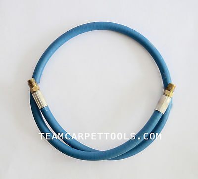 "Carpet Cleaning Wands 41"" of Blue Solution Line Hose 3000 PSI 1/4"" Male x Male"
