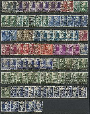 ALLIED OCCUPATION of GERMANY -  400 stamps fro the 1945  -  1950 Period .