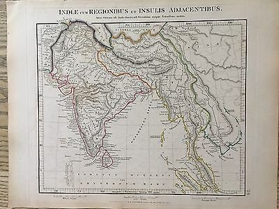 1828 Ancient India Southeast Asia By Arrowsmith Hand Coloured Map 189 Years Old