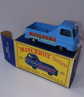 Lesney Matchbox Series Boxed Model No. 60 Morris J2 Pick Up  Original Box Nmc