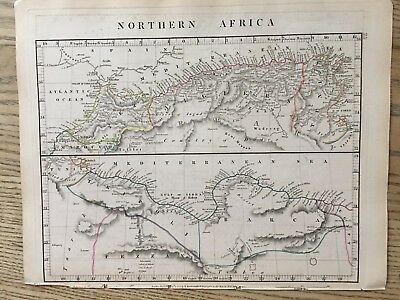 1828 North Africa By Aaron Arrowsmith Hand Coloured Antique Map 189 Years Old