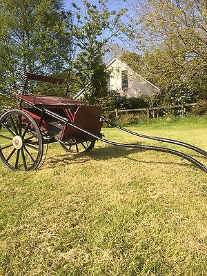Two Person Horse Drawn Pony Trap, Cart, Gig