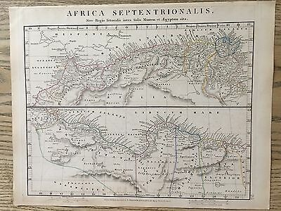 1828 Ancient North Africa By Arrowsmith Hand Coloured Antique Map 189 Years Old