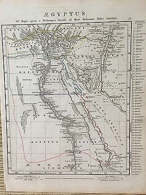 1828 Ancient Egypt By Aaron Arrowsmith Hand Coloured Antique Map 189 Years Old