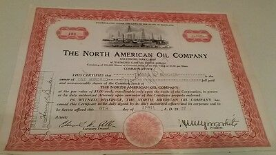 The North American Oil Company Baltimore Maryland issued to thomas blocher