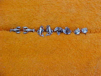 4 Pair Vintage Sterling Silver Non Pierced Screw Back figural Earrings