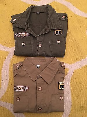 Two Army Style Kids shirt - 2-3 yrs