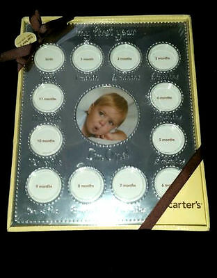 Picture Frame My First Year Carter's Infant Unisex Baby Shower Gift 0-12mth New