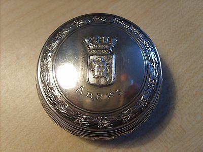 Solid Silver Gilt Pastille Box - Arras - France