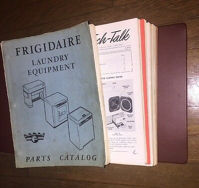 Vintage Lot Of Frigidaire Household Appliance Service Manuals Catalogs In Folder