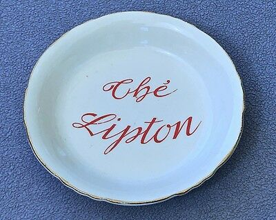 "French Thé Lipton ""Orchies"" Porcelain Tip Dish /  Vide Poche"