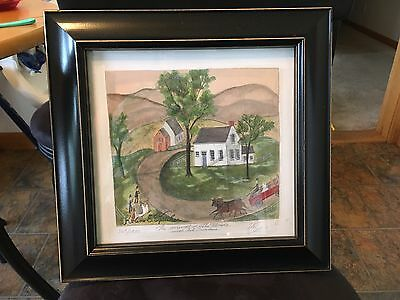KOLENE E SPICHER SIGNED NUMBERED The Arrival of the Bride LITHOGRAPH FRAMED 369/