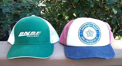 BNSF RR Cap Springfield Division Embroidered Railroad Hat + American Made Cap