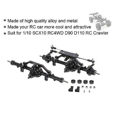 US! Metal Alloy Front Axle Rear Axle for 1/10 D90 RC4WD Yota II RC Crawler L5E6