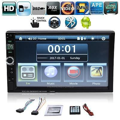 "7"" 2 DIN Bluetooth Car Stereo Radio MP3 MP5 Player FM USB TF Android Mirror Link"
