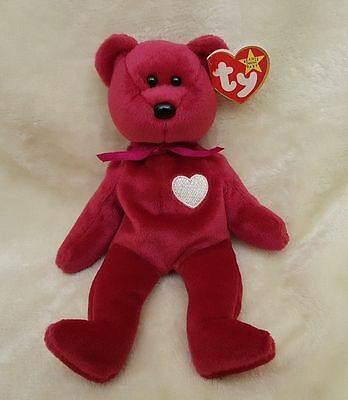 Beanie Baby Valentina Bear with Tag Errors Very Rare Retired