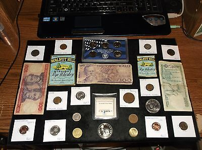 JUNK Drawer Coin Lot PROOF Set+Old Coins+SILVER Coin+Currency+Ike Dollar+LIBERTY