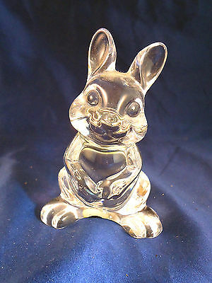 Crystal glass Sitting Up Bunny Rabbit Princess House Pets figurine statue -a2