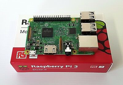 Raspberry Pi 3 Model B Single Board Computer w/ Retail Box - 1.2GHz Quad Core