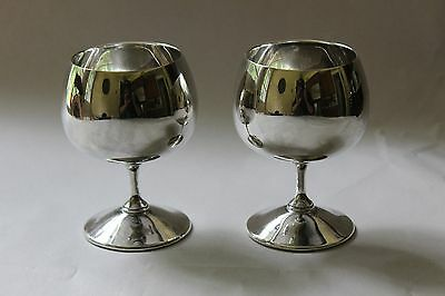 Vintage Set of Two Gorham Silverplate Silver Plate Wine Goblets