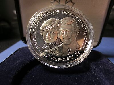 1983 Canada Cased Silver Coin, Royal Canadian Mint, Proof Coin, Charles & Diana