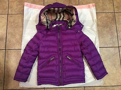 Burberry Children Purple down Jacket (8Y)