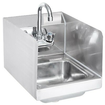 Stainless Steel Hand Sink with Splash Guards 14 x 10 - NSF