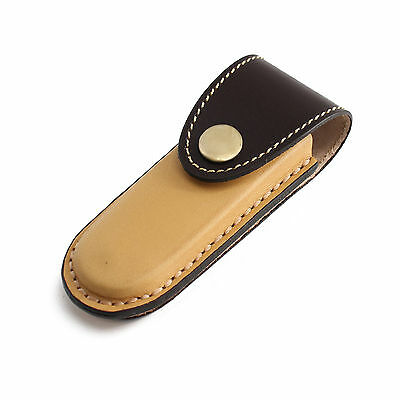 Leather Folding Knife Sheath Belt Sheath Pocket Knife Sheath with Belt Loop