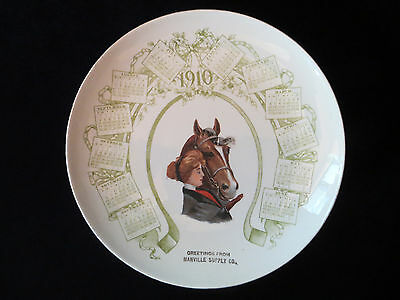 1910  Calendar Promo Plate Manville Suppy Co. Manville, Wy. With Woman And Horse