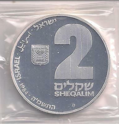 Israel coin  1984 2-Sheqalim  silver proof