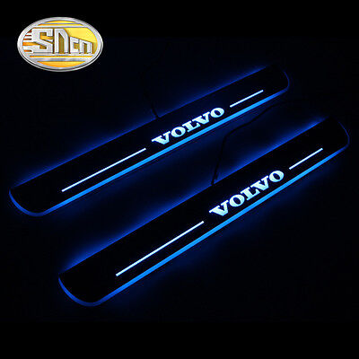Sncn LED Moving Welcome Door Sill Scuff Plate for Volvo S60 2015-2016