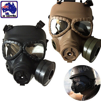 M04 Wargame Cosplay Airsoft Dummy Gas Mask Face Protection Gear Live CS JMAS499