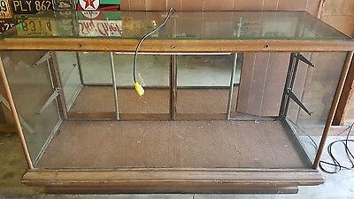 Antique 1900 General Store Glass Dispaly Case Silent Salesman Trademark