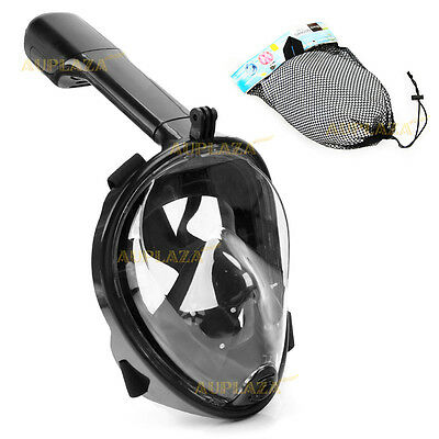Full Face Snorkel Mask Scuba Diving Snorkelling Set For GoPro Free Breath Swim