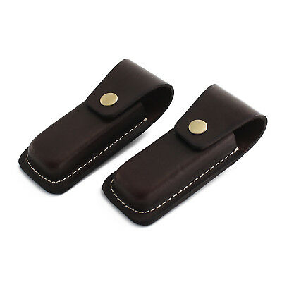Genuine Leather Knife Sheath Leather Knife Protective Case with Belt Loop