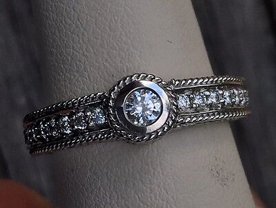 Penny Preville 18K White Gold and Diamond ring band, 6.2g