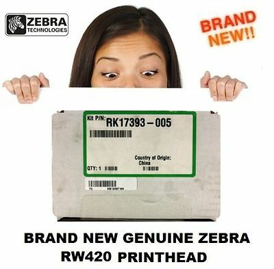 BRAND NEW! Genuine Zebra RK17393-005 Thermal Printhead 200DPI For RW 420