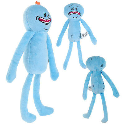 Soft 10'' Rick And Morty Mr Meeseeks Happy/Sad Face Stuffed Plush Doll Toys CA