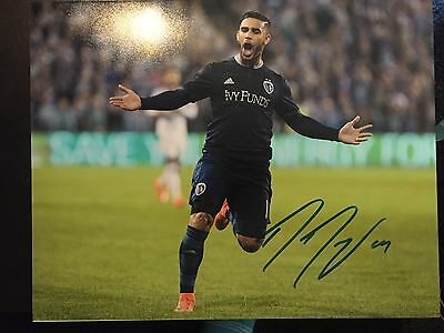Sporting KC Dom Dwyer Autographed Signed 11x14 Photo COA #2