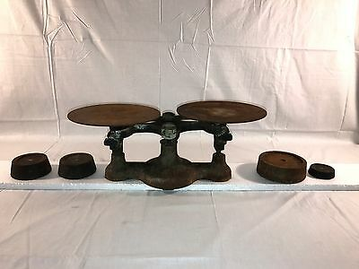 ANTIQUE DETECTO SCALE BY JACOBS BROTHERS INC NY No 2 & WEIGHTS