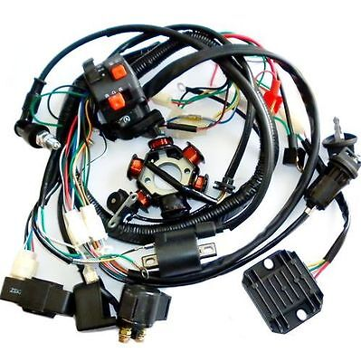 GY6 150CC WIRE HARNESS WIRING ASSEMBLY HARNESS ATV QUAD Wire Loom Key Solenoid Y
