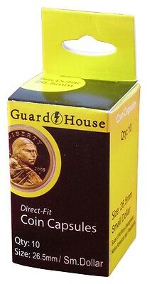 Guardhouse Small Dollar 26mm Direct Fit Coin Capsules, 10 pack